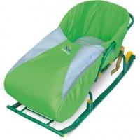 Сиденье для санок НИКА с чехлом для ног Зеленый СС3